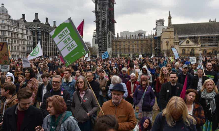 Climate emergency protesters in Westminster in May.