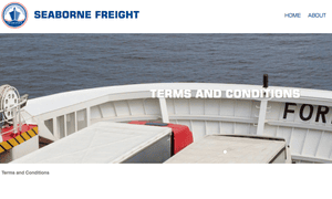 Screengrab from the Seaborne website.