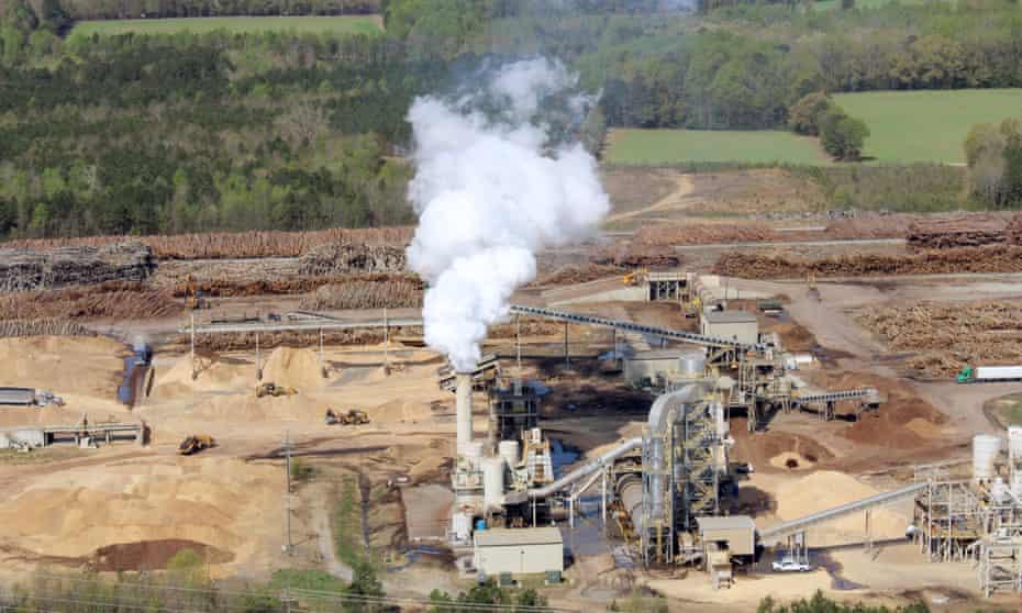 The Enviva plant in Northampton county, North Carolina.