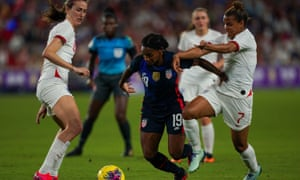 England Women are paid the same as their male counterparts for internationals, unlike the USA team they are in action against here.