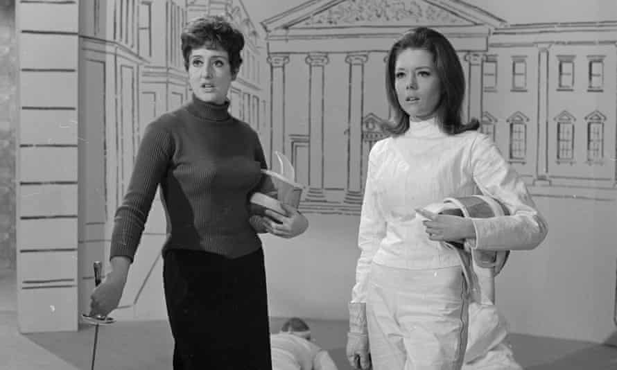 Anna Quayle and Diana Rigg in the television drama series The Avengers, 1967.