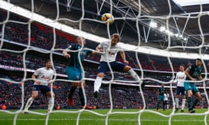 Harry Kane scores the opening goal for Tottenham Hotspur against Southampton at Wembley to go past Alan Shearer's Premier League calendar year scoring record.