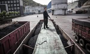 Coal mine and processing facility in Liulin, Shanxi province, China.