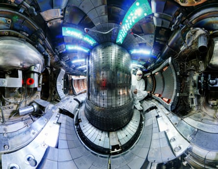 The interior of the fusion experiment Alcator C-Mod at MIT has broken the plasma pressure record for a magnetic fusion device.
