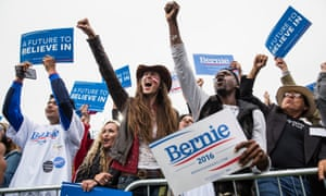 Bernie Sanders supporters at a campaign rally in San Francisco in June 2016.