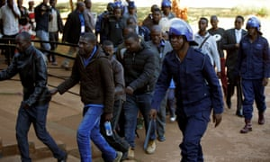 Some of the MDC activists detained by police on Thursday.