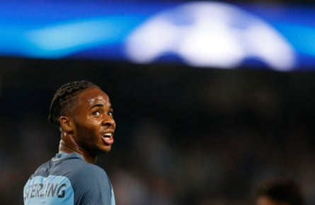 'The journalist Guillem Balague revealed this week that Guardiola has taken to painting a chalk spot on the training pitch to mark where he wants Sterling to stand during matches, so pronounced is Sterling's urge to skitter inside.'