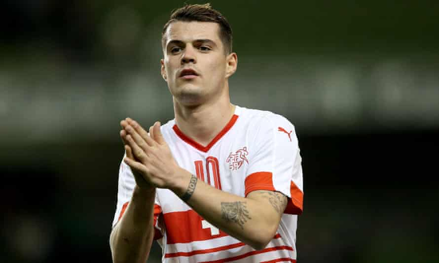 Granit Xhaka was recently made third-choice captain for the Swiss national team, behind Stephan Lichtsteiner and Valon Behrami but ahead of Xherdan Shaqiri.