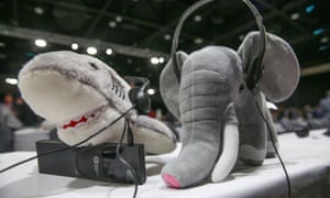 Mascots at the Cites summit in Johannesburg, which saw victories for pangolins, grey parrots and sharks.