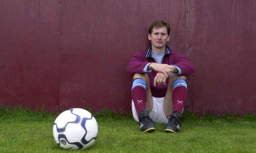 Glenn Roeder poses for a photograph at West Ham's Chadwell Heath training ground in September 2001, during his time as the club's manager