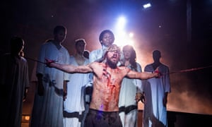Declan Bennett in the title role of Jesus Christ Superstar at Regent's Park Open Air theatre.