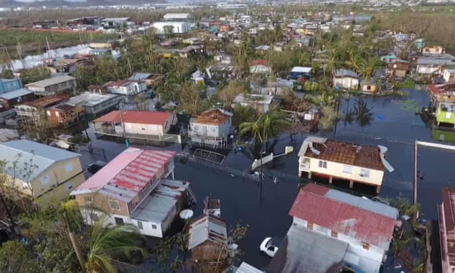 Puerto Rico is without electricity, officials have said, after Hurricane Maria's strong winds and flooding knocked out the US territory's power service.