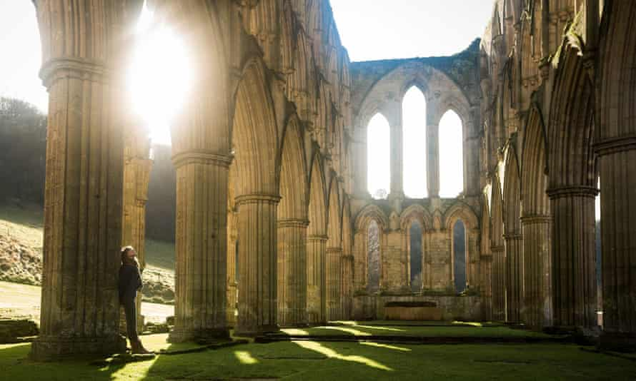 The Rievaulx Abbey near Helmsley, North Yorkshire.