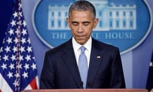Barack Obama makes a statement about the death of the two hostages at the White House in April 2015.