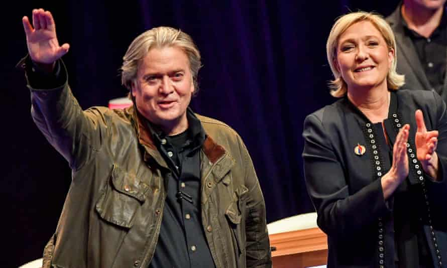 Steve Bannon and Marine Le Pen