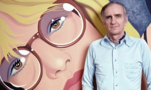 Tom Wesselmann in New York with one of his paintings.