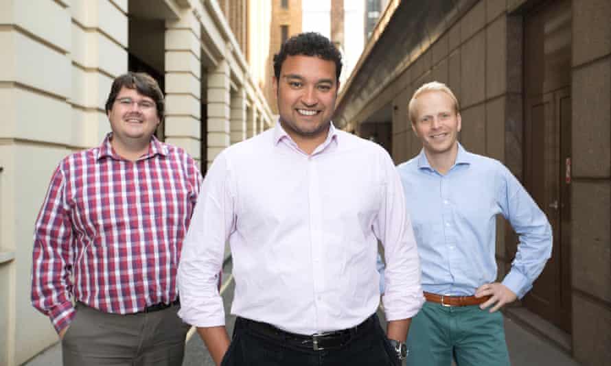 Funding Circle's founders Andrew Mullinger, Samir Desai and James Meekings