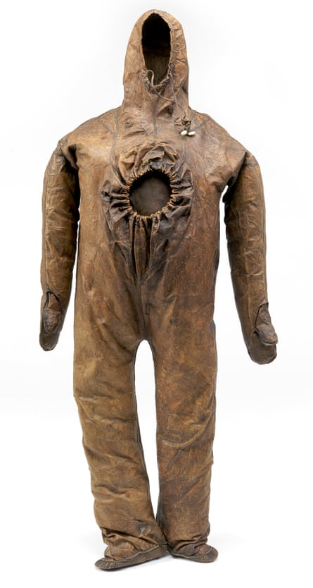 The near-200-year-old sealskin whaling suit.