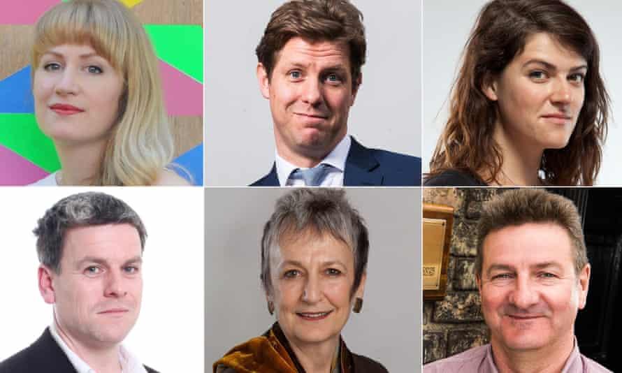 Talking about Europe,clockwise from top left, Rosie Warin, Fraser Nelson, Alice Bell. Barrie Deas, Julia Unwin Gavin Kelly,