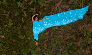 Nisha, from above: image by Carys Kaiser, drone photographer.