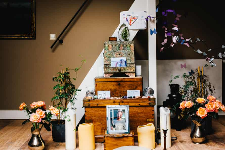 Emma Winberg's tribute to her late husband, at her home in Amsterdam.