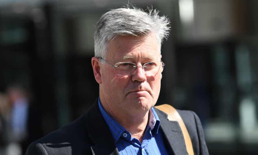Grant Stewart leaves the Federal Law Courts building in Melbourne, Tuesday, September 11, 2018. Stewart was giving evidence at the Royal Commission into Misconduct in the Banking, Superannuation and Financial Services Industry. (AAP Image/Julian Smith) NO ARCHIVING