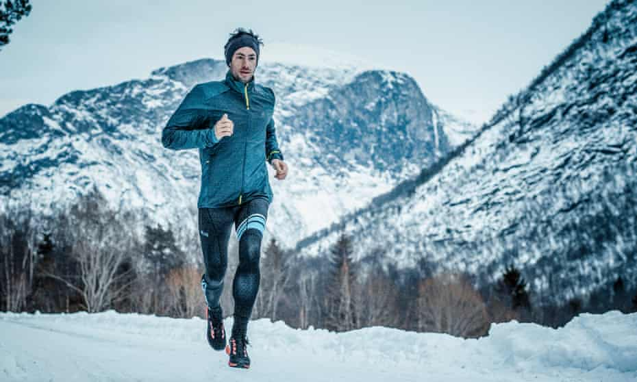 'When I go to a city, I don't feel comfortable. In the mountains, I feel like I belong': Kílian Jornet near his home in Norway.