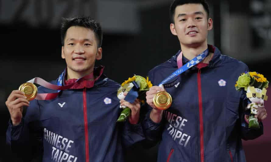 Badminton gold medallists Lee Yang and Wang Chi-Lin, competing under the name of Chinese Taipei