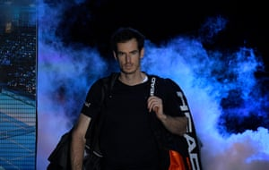 Murray arrives on court.