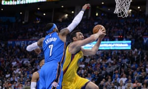 The Oklahoma City Thunder game against Golden State Warriors saw a show of support for the state's teachers.