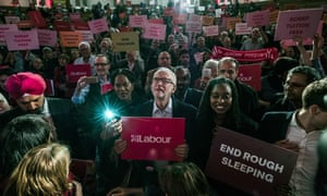 Jeremy Corbyn at a Labour rally in Westminster in October