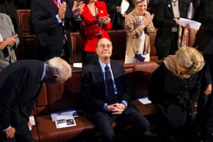 Chirac is applauded at an awards ceremony in Paris in November 2011