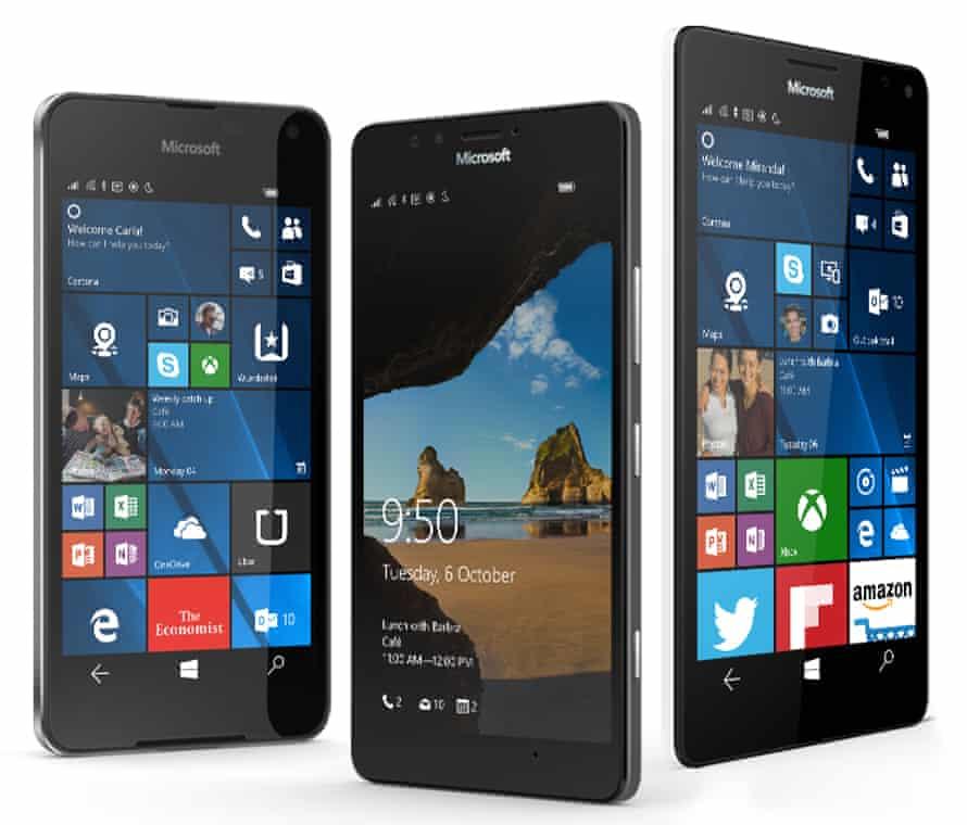 Nokia Lumia 640 Windows phone.