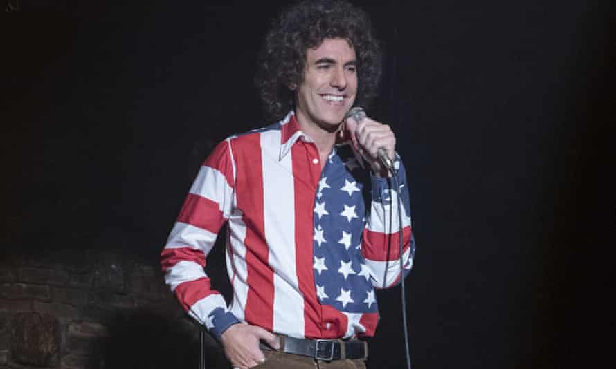 Baron Cohen as Abbie Hoffman in The Trial of the Chicago 7, 2020.