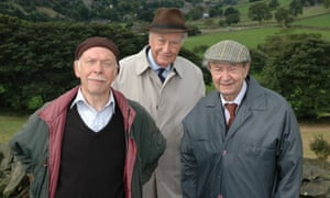 Peter Sallis, right, as Cleggy, with Frank Thornton, centre, as Truly, and Brian Murphy as Alvin, in Last of the Summer Wine.