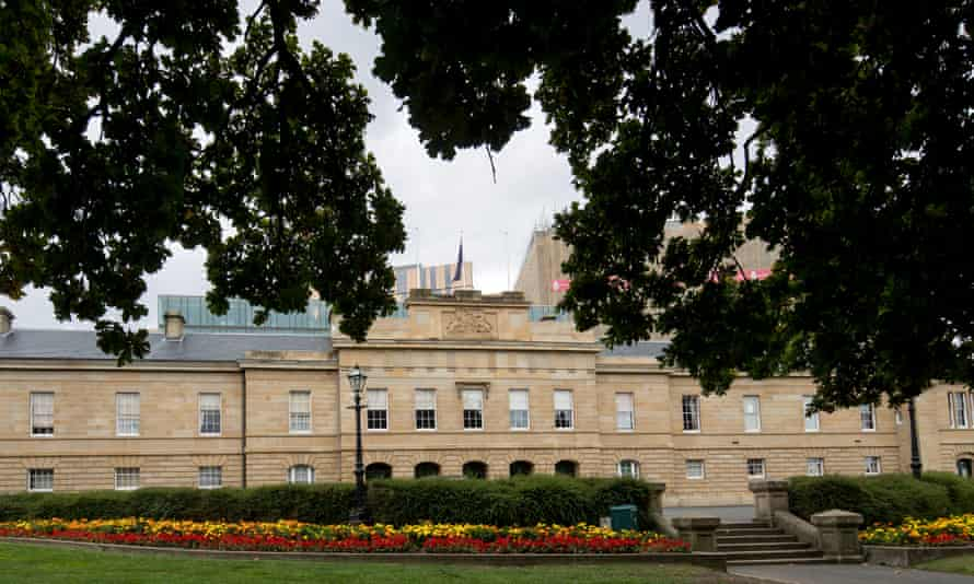 The Tasmanian parliament building in Hobart. Tasmania goes to the polls on Sunday 10 months early.