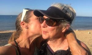 Mel McNamara kisses her mother Julie Eastwood