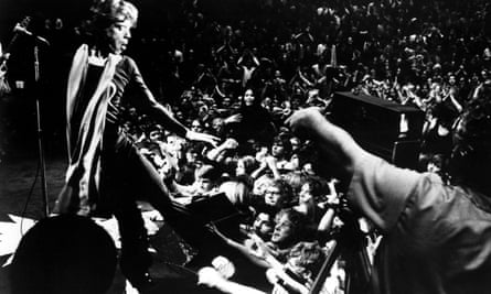 He's just a shot away: Mick Jagger in Gimme Shelter