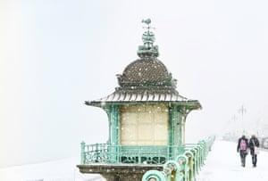 'The seafront in Kemptown, Brighton – snowy despite the salt.'