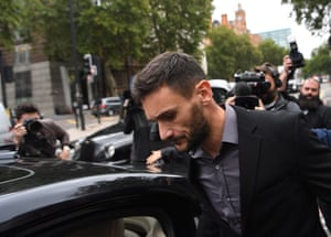 Lloris outside the magistrates' court.