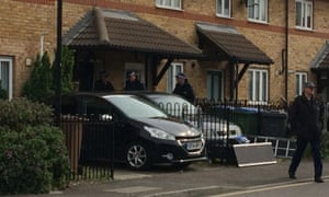 Police at the scene this morning in Waltham Forest.