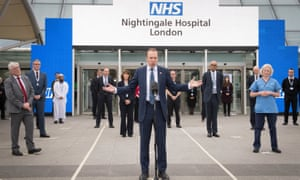 Matt Hancock at the opening of the NHS Nightingale Hospital in London in April.