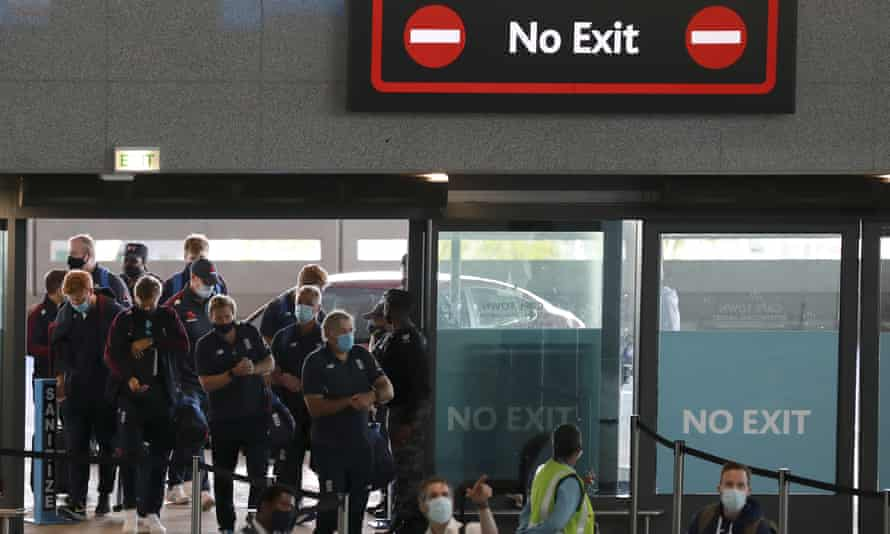 The England squad depart Cape Town on Thursday, after their three-match one-day international series against South Africa was called off.