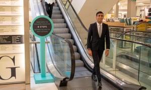Rishi Sunak at a John Lewis department store in London on 10 June 2020