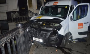 The rental van used in the attack.
