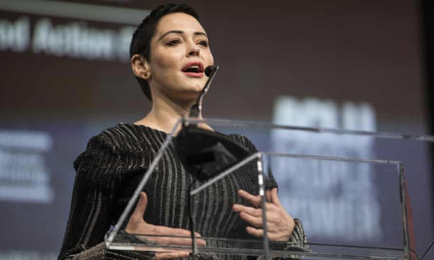 Rose McGowan speaks during the Women's Convention in Detroit last month.