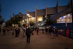 Exterior view of the Parc des Princes stadium,