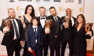 Victory … makers of the multi-award-winning game God of War at the Bafta awards.