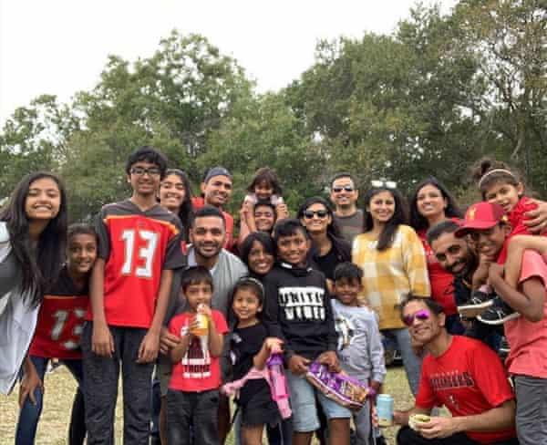 Anisa Nanavati with her family members