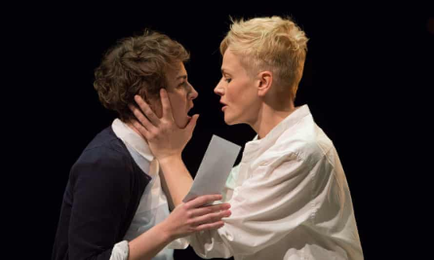 As Hamlet in 2014 with Katie West as Ophelia